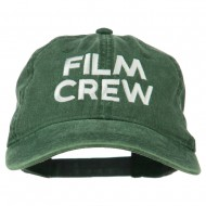 Film Crew Embroidered Washed Cap - Dk Green