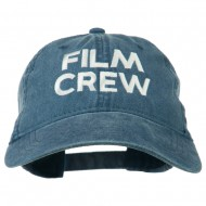 Film Crew Embroidered Washed Cap - Navy