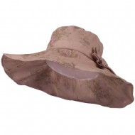 Floral Design Woman's Hat - Pink