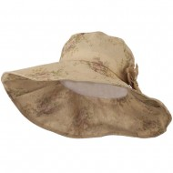 Floral Design Woman's Hat - Tan