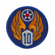 Air Force Division Embroidered Military Patch - 10th