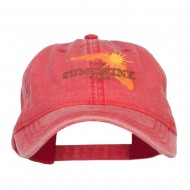 Florida Sunshine State Embroidered Cap - Red