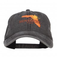 Florida Sunshine State Embroidered Cap - Black