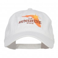 Florida Sunshine State Embroidered Cap - White