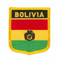 South America Flag Embroidered Patch Shield - Bolivia