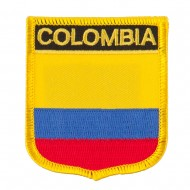 South America Flag Embroidered Patch Shield - Colombia