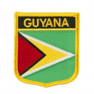 South America Flag Embroidered Patch Shield - Guyana