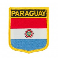 South America Flag Embroidered Patch Shield - Paraguay