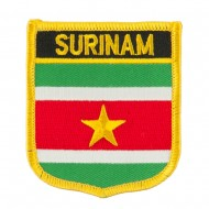 South America Flag Embroidered Patch Shield - Suriname