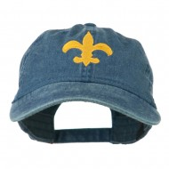 Fleur De Lis with Outline Embroidered Cap - Navy