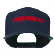 Formula 1 Embroidered Flat Bill Cap - Navy