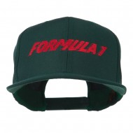 Formula 1 Embroidered Flat Bill Cap - Spruce