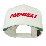 Formula 1 Embroidered Flat Bill Cap - Natural