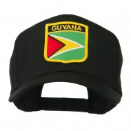 South America Flag Shield Patched Cap - Guyana