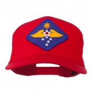 Far East Air Force Patched Cap - Red