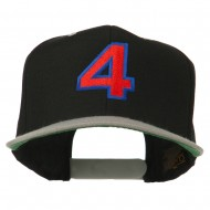 Arial Number 4 Embroidered Classic Two Tone Cap - Black Silver