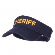 Sheriff Embroidered Washed Cotton Visor - Navy