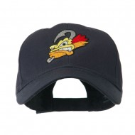 Fishing Fly Face Embroidered Cap - Navy