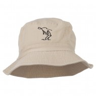Fly Fishing Outline Bucket Hat - Natural