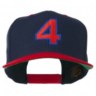 Arial Number 4 Embroidered Classic Two Tone Cap - Navy Red