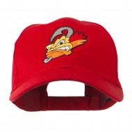 Fishing Fly Face Embroidered Cap - Red