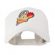 Fishing Fly Face Embroidered Cap - White