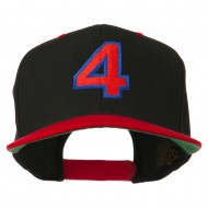 Arial Number 4 Embroidered Classic Two Tone Cap - Black Red
