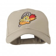 Fishing Fly Face Embroidered Cap - Khaki