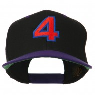 Arial Number 4 Embroidered Classic Two Tone Cap - Black Purple