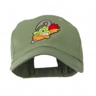 Fishing Fly Face Embroidered Cap - Olive