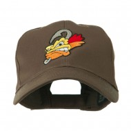 Fishing Fly Face Embroidered Cap - Brown