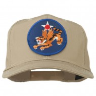 14th Air Force Division Patched Cap - Khaki