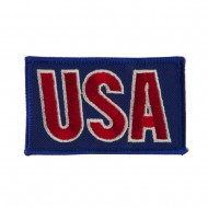 Flag Style Embroidered Patch - USA 2