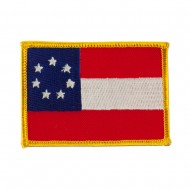 Flag Style Embroidered Patch - Star