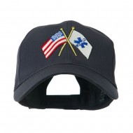 Flags with Star of Life Embroidered Cap - Navy
