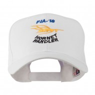 FIA 18 Hornet Handler with Image of a Hornet Embroidered Cap - White