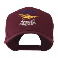 FIA 18 Hornet Handler with Image of a Hornet Embroidered Cap - Maroon