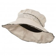 Infinity Selection Ladies Fashion Flower Hat - Natural