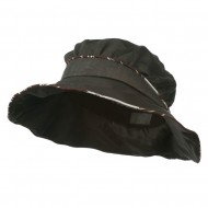 Infinity Selection Ladies Fashion Flower Hat - Charcoal