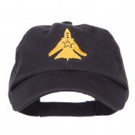 US Fighter Jet Embroidered Low Cap - Black