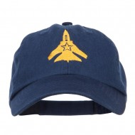 US Fighter Jet Embroidered Low Cap - Navy