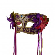 Mask with Flower and Ribbon - Purple