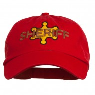 Sheriff Badge Embroidered Low Profile Cap - Red