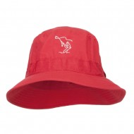 Fly Fishing Man Embroidered Big Golfer Hat - Red