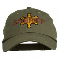 Sheriff Badge Embroidered Low Profile Cap - Olive
