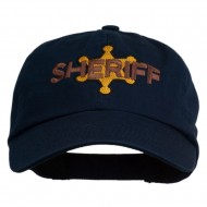 Sheriff Badge Embroidered Low Profile Cap - Navy