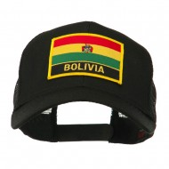 South America Flag Letter Patched Mesh Cap - Bolivia
