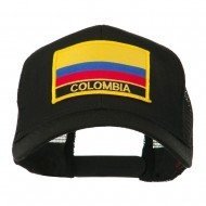South America Flag Letter Patched Mesh Cap - Colombia