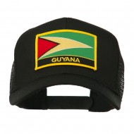 South America Flag Letter Patched Mesh Cap - Guyana