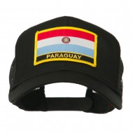 South America Flag Letter Patched Mesh Cap - Paraguay
